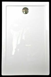 Superflache Duschwanne Duschtasse kratz rutschfest flache 120 x 80 Komplett Set