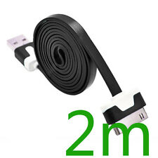 2m USB Sync Charger Cable Cord For iPhone 4 4S iPad 2 black