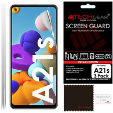 3 Pack of TECHGEAR CLEAR Screen Protector Covers For Samsung Galaxy A21s