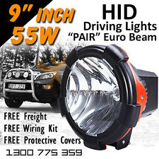 HID Xenon Driving Lights - Pair 9 Inch 55w Euro Beam 12v 24v 4x4 4wd Off Road