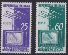 ITL132) Italy set of 2, 1954 Introduction of Television, MUH