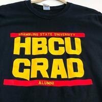 Grambling State University HBCU Grad Alumni Adult T Shirt XL Short Sleeves Black