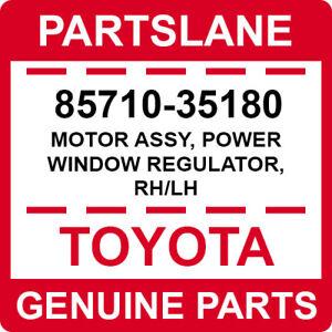 85710-35180 Toyota OEM Genuine MOTOR ASSY, POWER WINDOW REGULATOR, RH/LH