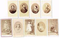 CDV PHOTOS FAMILY PORTRAITS ADULTS & CHILDREN ITALIAN STUDIOS IN NAPLES / NAPOLI