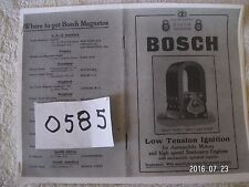 Copy Bosch Instruction Manual for Low Tension Ignition for Auto & high speed sta