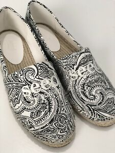 Seed Espadrilles Shoes Black & white Size 39 BNWT