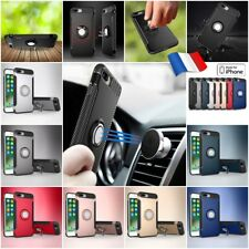Coque housse Etui magnétique Finger Ring Hybrid Case cover iPhone 7 / iPhone 8