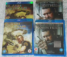 ROBIN HOOD Russell Crowe; CLASH OF THE TITANS Sam Worthington - 2 Blu-ray DVDs