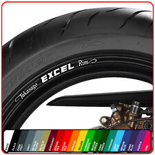 8 X TAKASAGO EXCEL WHEEL RIM DECAL STICKERS - CHOICE OF COLOUR