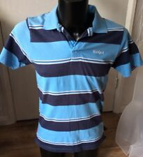 "Kickers Blue Stripe Polo Shirt Size Small Approx 34"" Chest"