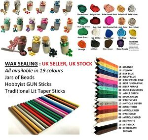 Wax Sealing Sticks, or wax bead Jars. Letters Stamp Seal Melting Candle Invites