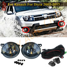 LED Fog Lights Bumper Lamps Harness Kit For Dacia Duster Sandero Logan 2004-2015