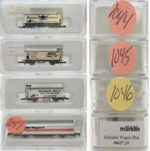 MARKLIN Z SCALE M/M 1044-1045-1046-1047  4 COLLECTOR Freight Cars Marklin BoxsC8