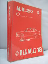 RENAULT 18 Workshop Manual M.R. 210 meccanico-MARZO 1978-grande