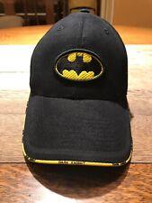 Dark Knight Batman Hat Baseball Cap Warner Brothers Black Yellow
