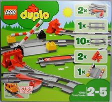 10875 10872 10882 10874 NEU LEGO DUPLO VILLE EISENBAHN Gerade Gleis Weissgrau a