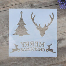DIY Craft Layering Christmas Stencils For Walls Painting Scrapbooking Stamping