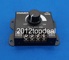 DC 12V/24V 30A 360W 2CH LED Switch Dimmer Controller For Led Strip Single Color
