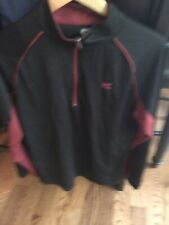 Mens Colosseum Athletic L Light Weight 1/4 Zip Pull Over Garnet/Black Sc Perfect