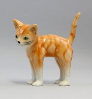 9942095 Porzellan Figur Gestreifte Katze Wagner & Apel H12cm
