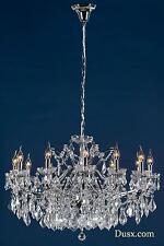 Dusx Vivianne Chrome & Clear Crystal Glass 12 BRACCIO GRANDE LAMPADARIO PLAFONIERA