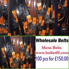 100 Pcs Wholesale Job Lot Mens Don Milano Assorted Mix Sizes Jean Belt UK Seller