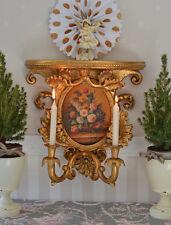 Wandleuchter Barock Kerzenleuchter Wandkonsole Kerzenhalter Barockstil Malerei