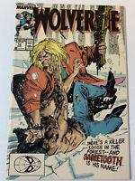 1989 Marvel Comics WOLVERINE #10 ~ Sabretooth battle