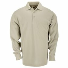Tactical Long Sleeve Tall Professional Polo Shirt Silver Tan Large