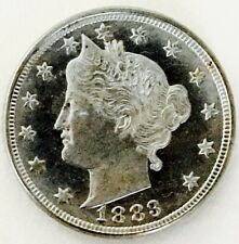 1883 V  NICKEL SOLID GEM BU+++! NON PROOF PL!SUPER RARE!HIGH GRADE GEM!NR # 2896