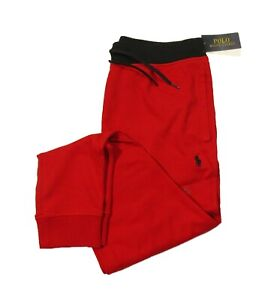 Polo Ralph Lauren Men's Big & Tall Red Cotton Interlock Jogger Track Pants