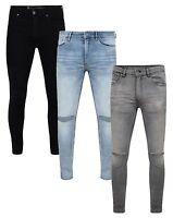Ringspun Mens Fashion Jeans Super Skinny Stretch Denim Slim Narrow Tight Pants