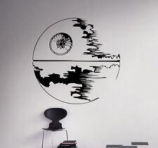 Death Star Wall Decal Star Wars Vinyl Sticker Galactic Empire Home Decor 38(nse)