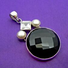 "Less than 13"" Onyx Sterling Silver Fine Necklaces & Pendants"