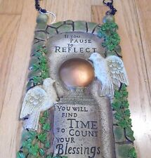 Pause to Reflect Sign Plaque Garden Funeral Memory Doves Transitional Wall Decor