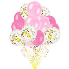 Konfetti Luftballon Set Geburtstag Party Hochzeit JGA  Ballons Rosa Pink Weiß