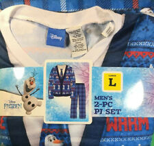 Frozen Olaf I Like Warm Hugs Ugly Sweater Pajamas 2 Piece Sleep Set Men's Large
