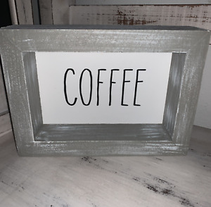 Rae Dunn ~ COFFEE Wooden Sign ~ Rustic Farmhouse Decor ~ Small ~ NEW