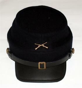 UNION ARMY CAVALRY Civil War CROSSED RIFLES GUNS Dark Blue KEPI CAP HAT M L XL