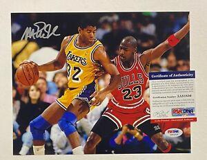 Magic Johnson Signed 8x10 Photo Autographed AUTO PSA/DNA COA Lakers HOF