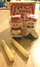 Vintage Christmas Carolers Miniature Candle Holders w/ Candles New