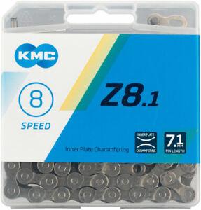 KMC Z8.1 Chain - 6 7 8-Speed 116 Links Silver/Gray