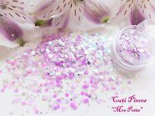 "Nail Art *Mrs Potts"" Pastel Iridescent Holographic Hexagon Heart Glitter Mix Pot"