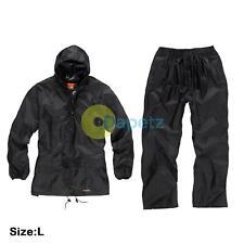 Scruffs Lluvia Chaqueta y Pantalones Negro a prueba de agua o lluvia Traje de 2 Piezas Hi Vis