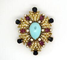 Ruby Brooch/Pin Vintage Fine Jewellery (1980s)