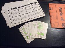 Incomplete Vintage 1976 Parts of Speech BINGO GAME 36 Players Trend Enterprises