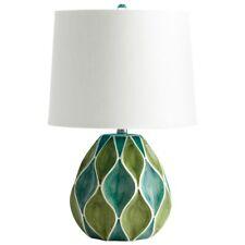 Cyan Design Glenwick Table Lamp, Green & White Glossy - 05564