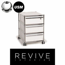 USM Haller Metal Sideboard White Roll Container Wardrobe Office Chrome #14975