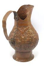 Vintage Beautiful Shape Indian Handcrafted Copper Water/Milk Jug/Vessel.G3-88