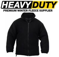 NEW MEN'S EXTRA THICK WINTER PADDED HEAVY DUTY WORK FLEECE JACKET SIZES S - 5XL